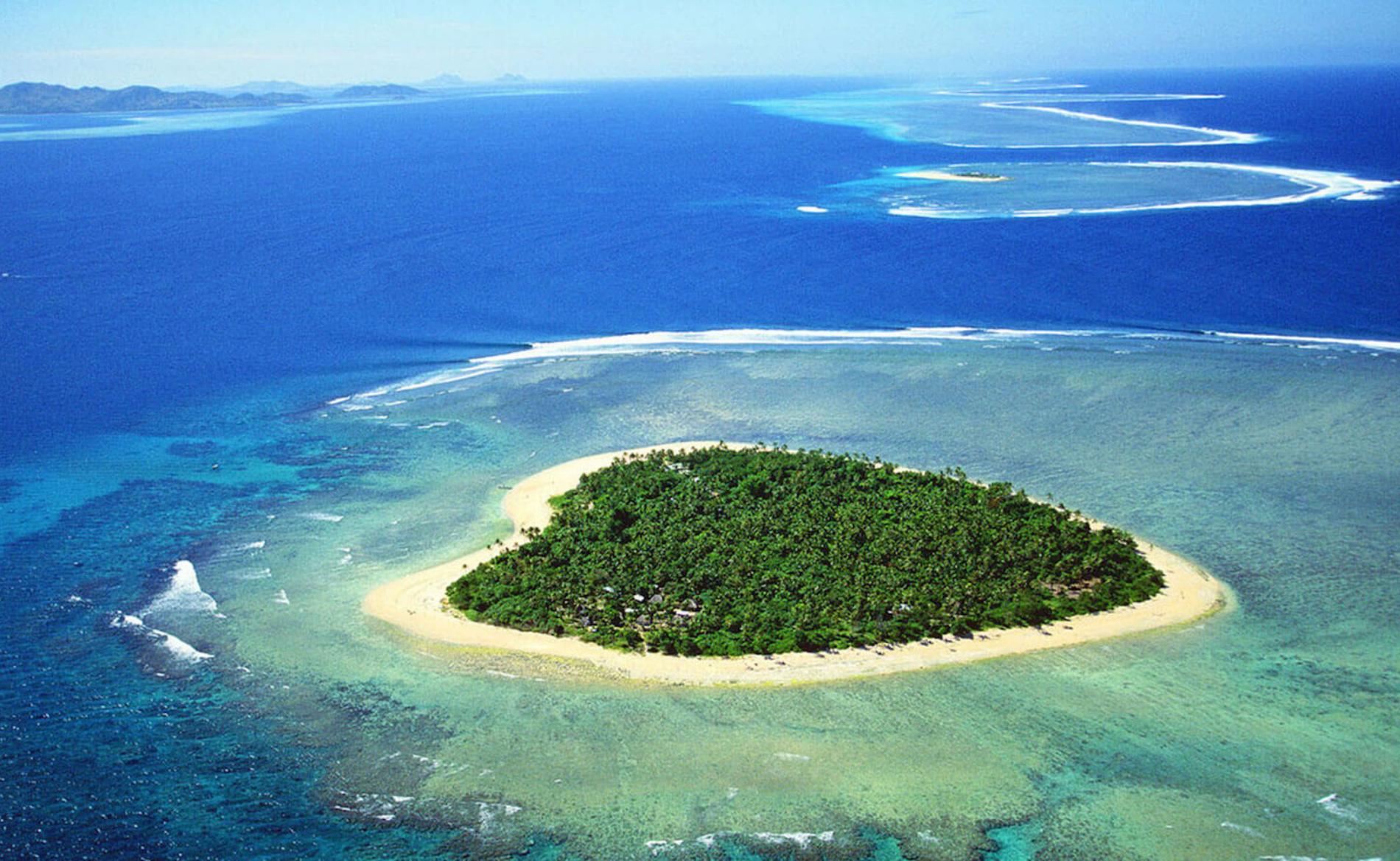 isola a forma di cuore viaggio di nozze