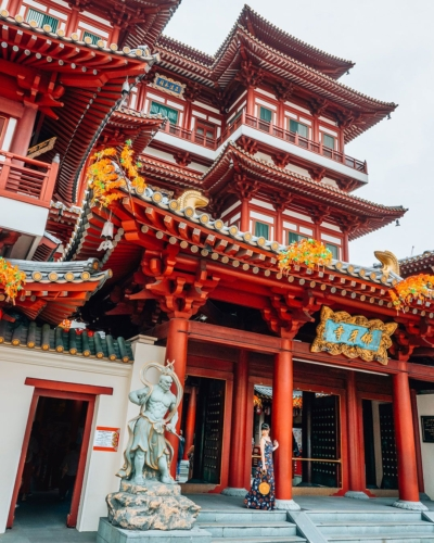 tempio Buddha dente Singapore